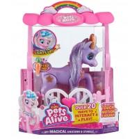 Интерактивная игрушка Pets alive Мой волшебный единорог фиолетовый